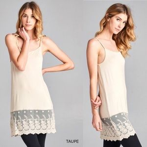 Oddi Dresses - ODDI Small Taupe Dress Extender Tunic Shirt Slip